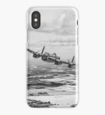 Home stretch: Lancaster over England, B&W version iPhone Case