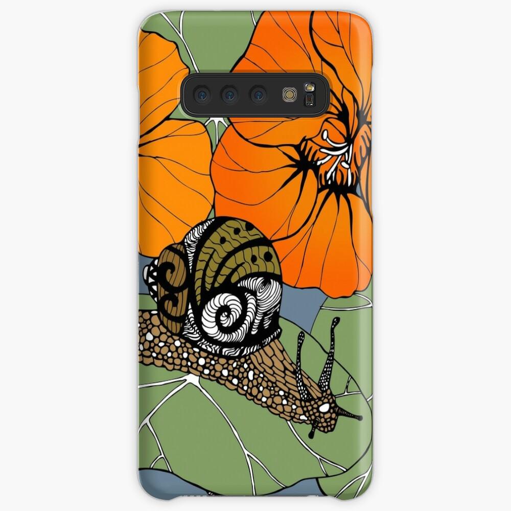 Snail with Nasturtiums Case & Skin for Samsung Galaxy