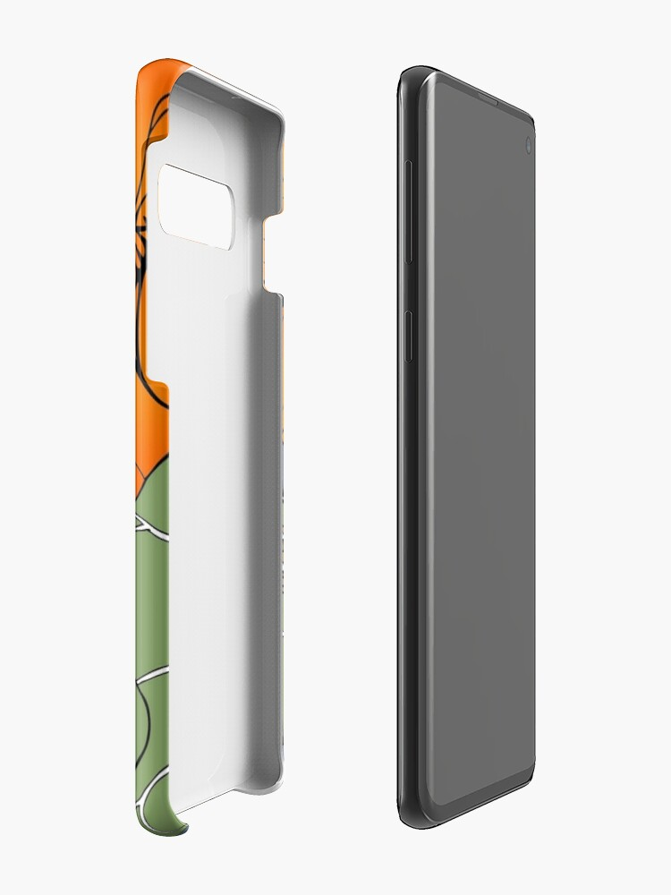 Alternate view of Snail with Nasturtiums Case & Skin for Samsung Galaxy