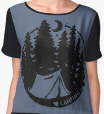 Love Camping Chiffon Top
