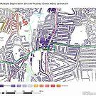 Multiple Deprivation Rushey Green ward, Lewisham by ianturton