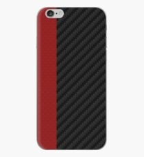 carbon fiber Red mixmatch iPhone Case