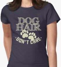 Dog Hair Womens Fitted T-Shirt