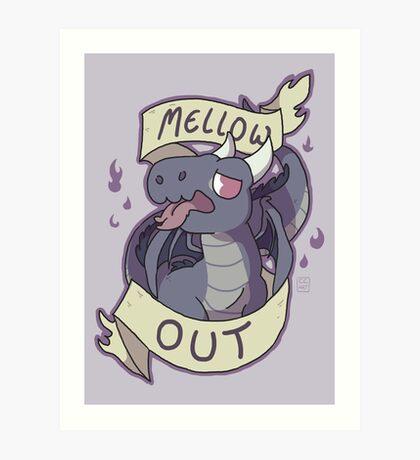 Mellow Out Art Print