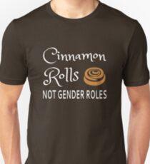 Cinnamon Rolls Not Gender Roles Slim Fit T-Shirt