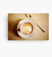 Latte coffee art Canvas Print