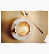 Latte coffee art Poster