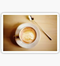 Latte coffee art Sticker