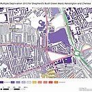 Multiple Deprivation Shepherd's Bush Green ward, Kensington & Chelsea by ianturton