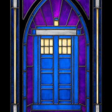 Stained Glass Series - TARDIS by ianleino