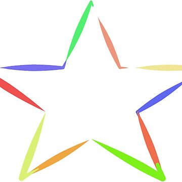 Multi colour star by Sheepandwolf