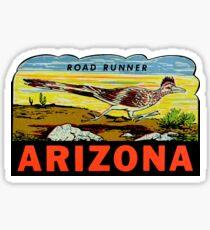 Arizona Road Runner Vintage Travel Decal Sticker