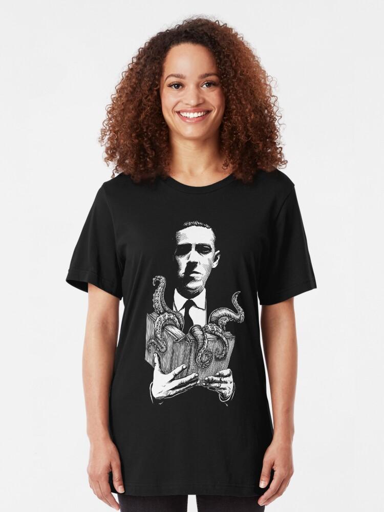 Alternative Ansicht von Storytime mit Lovecraft Slim Fit T-Shirt
