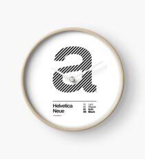 a .... Helvetica Neue (b) Clock