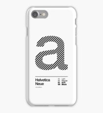 a .... Helvetica Neue (b) iPhone Case/Skin