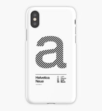 a .... Helvetica Neue (b) iPhone Case