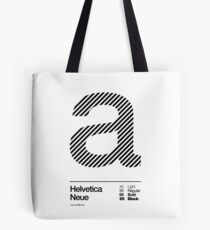 a .... Helvetica Neue (b) Tote Bag