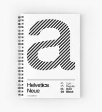 a .... Helvetica Neue (b) Spiral Notebook