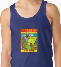 Arkansas State Map Vintage Travel Decal Tank Top
