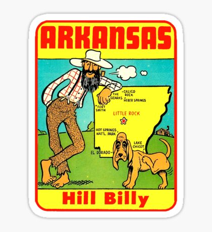 Arkansas State Map Vintage Travel Decal Sticker
