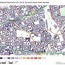 Multiple Deprivation St Dunstan's ward, Tower Hamlets by ianturton