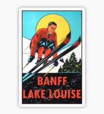 Banff Lake Louise Ski Vintage Travel Decal Sticker