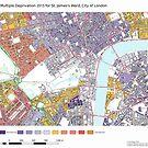 Multiple Deprivation St James's ward, City of London by ianturton