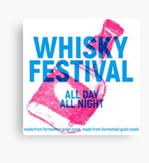 Whisky festival poster with bottle Canvas Print