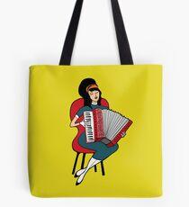Accordeon girl Tote Bag