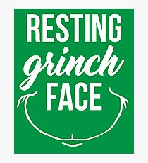 Resting Grinch Face Photographic Print