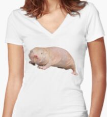 Naked mole rat Women's Fitted V-Neck T-Shirt