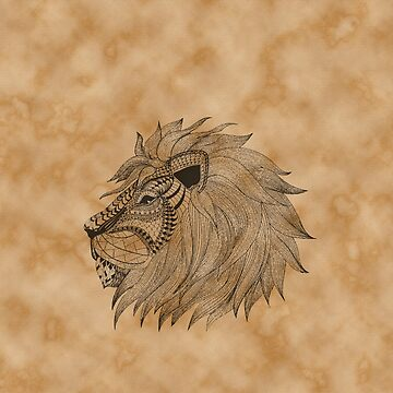Lion Zentagle Vintage Art by DictionaryArt