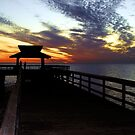 West Coast Florida Sunset Over Pier by Jason Pepe
