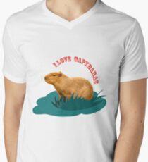 I love capybaras Men's V-Neck T-Shirt