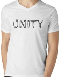 Black Unity Safety Pins Mens V-Neck T-Shirt