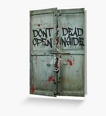 The walking dead - dead inside - zombie Greeting Card