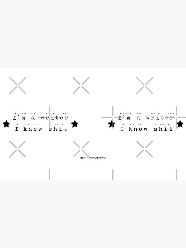 I'm a writer by siyi