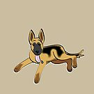 German Shepherd Puppy by Diana-Lee Saville