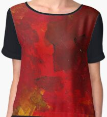 Exothermic | Alcohol Ink Abstract Chiffon Top