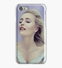 Gillian Anderson painting  iPhone Case/Skin