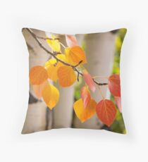 Glowing Aspen Array of Color Throw Pillow