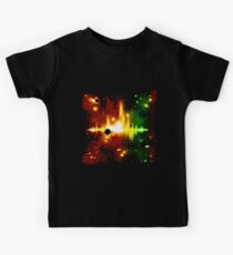 Retro space background Kids Clothes