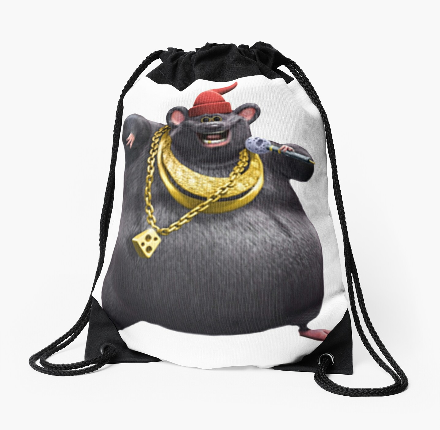 Quot Biggie Cheese Quot Drawstring Bag By Joedaeskimo Redbubble
