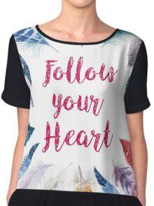 Feathers, Follow your heart Women's Chiffon Top