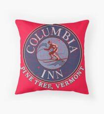 Columbia Inn, Pine Tree Vermont Throw Pillow