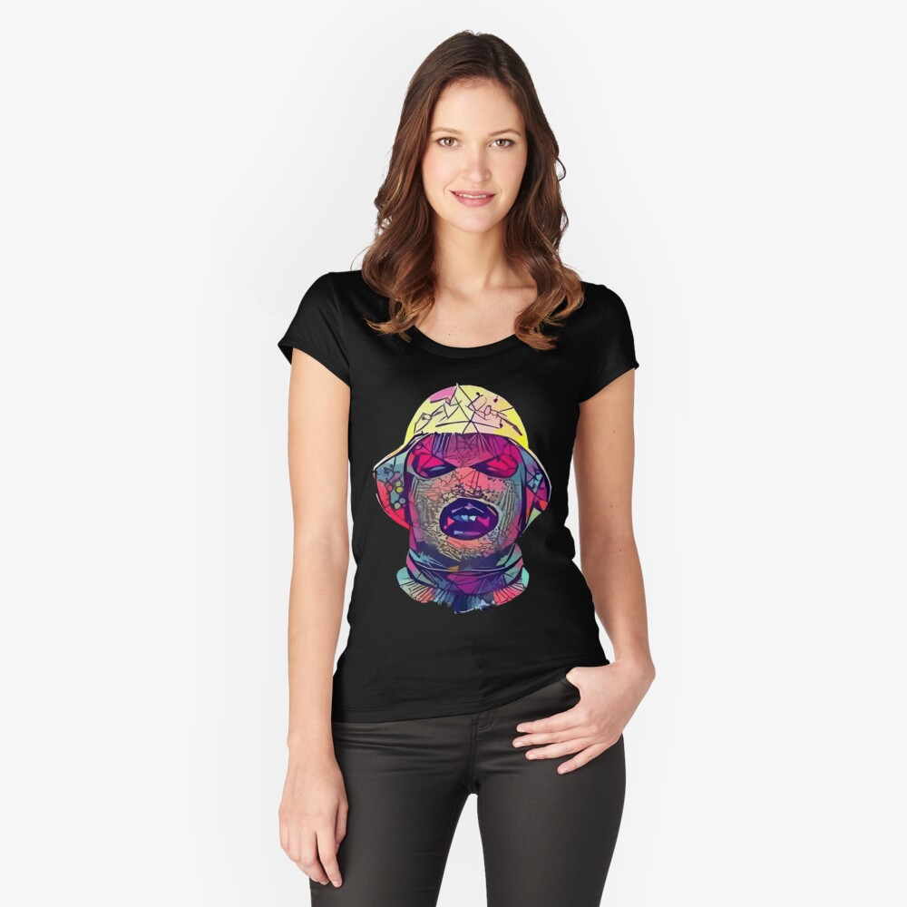 Abstract Oxymoron Fitted Scoop T-Shirt