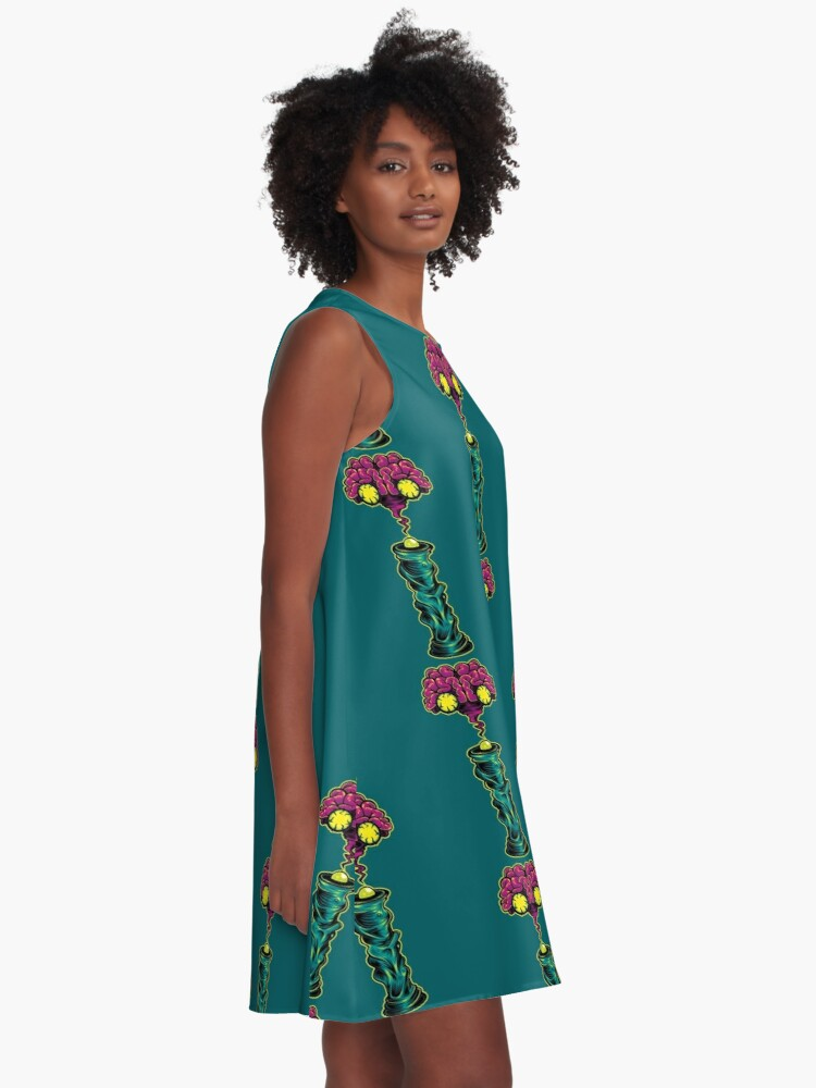 Alternate view of I is for Intergalactic Intelligence  A-Line Dress