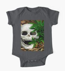 Happy Marijuana Skull  One Piece - Short Sleeve