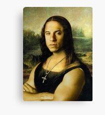 Vin Diesel/Mona Lisa Canvas Print
