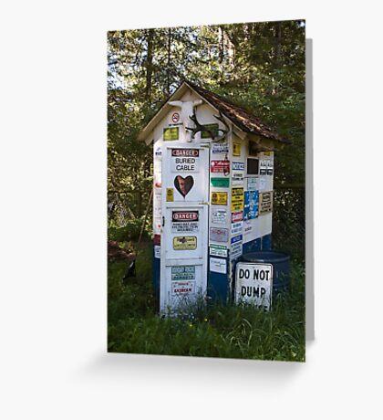 Dump Site Greeting Card